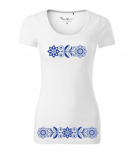 229285448 dámske tričko s ľudovým motívom